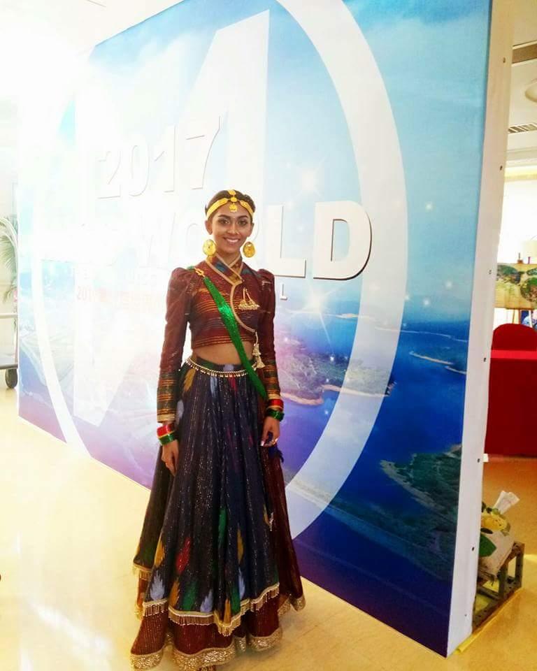 Nikita Chandak S Dances Of The World Costume At Miss World 2017