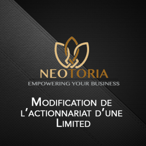 actionnaire societe Irlande limited Neotoria