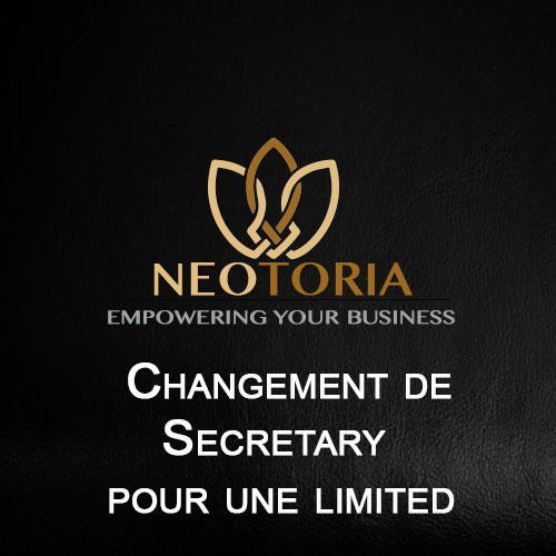 Changement de Secretary pour une Limited
