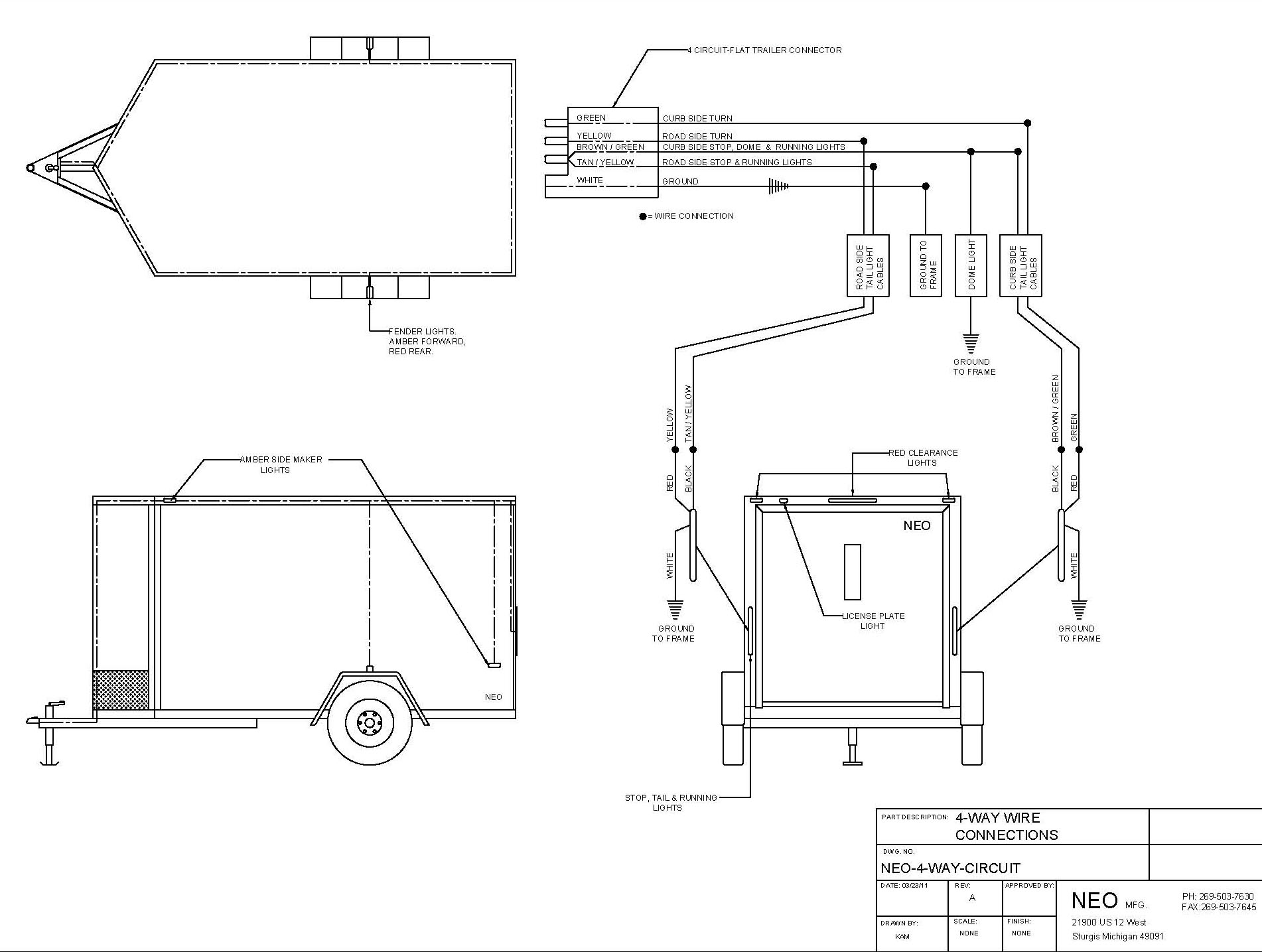 Trailer Wiring Diagram 4 Flat on 7 way trailer wiring adapter