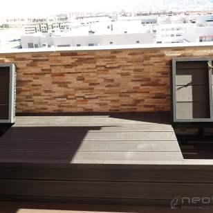 bancos madera composite exterior