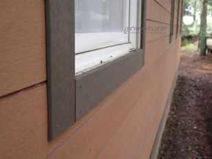 Terminacion contorno ventanas revestimiento sintetico exterior