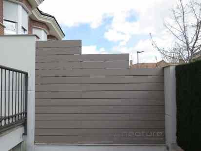 Vallado exterior madera sintetica sin mantenimiento