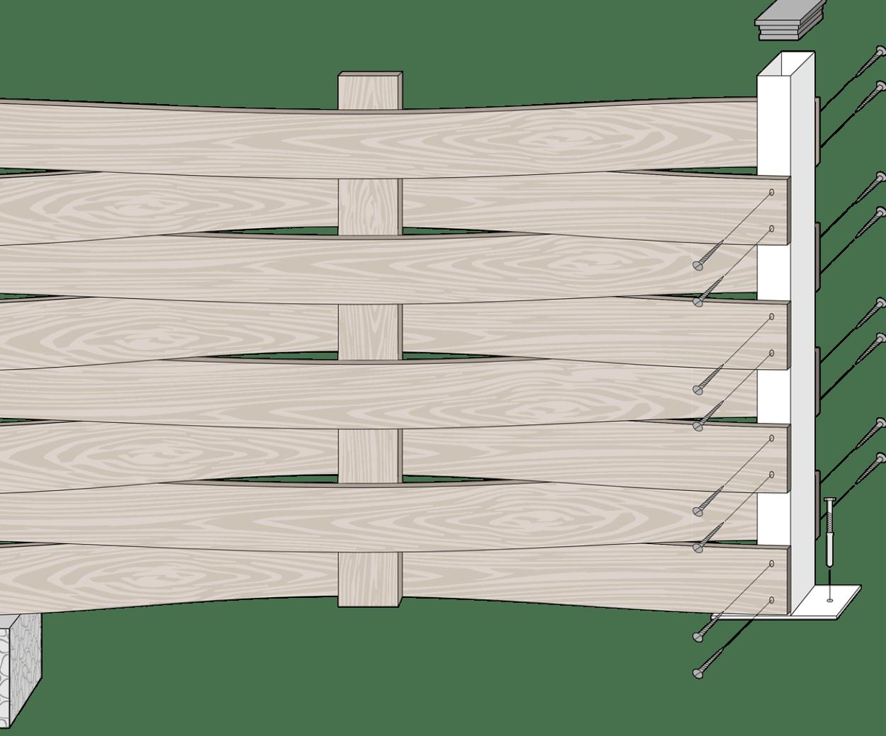 vallado madera tecnologica trenzado