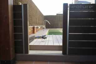 cerramiento madera composite exterior