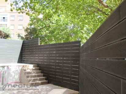 Cerramiento terraza exterior con madera sintética sin mantenimiento