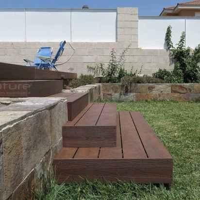 escaleras tarima madera sintetica