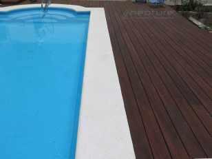 Tarima madera exterior sintetica para piscinas
