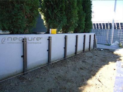 instalacion jardineras composite rastreles pared