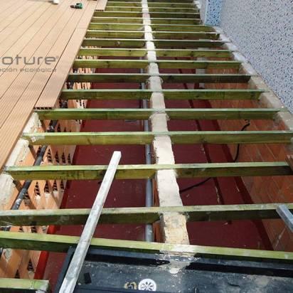 Instalacion suelo composite sobre estructura metalica
