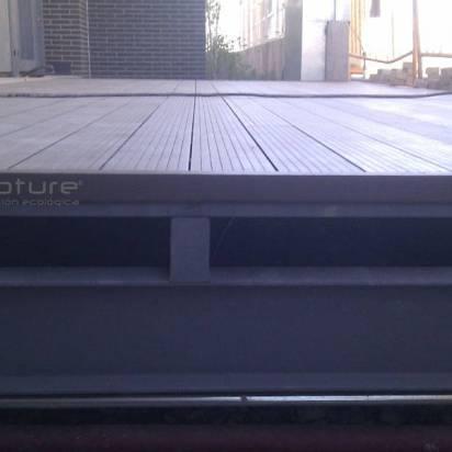 Instalar tarima exterior sintetica sobre estructura metalica