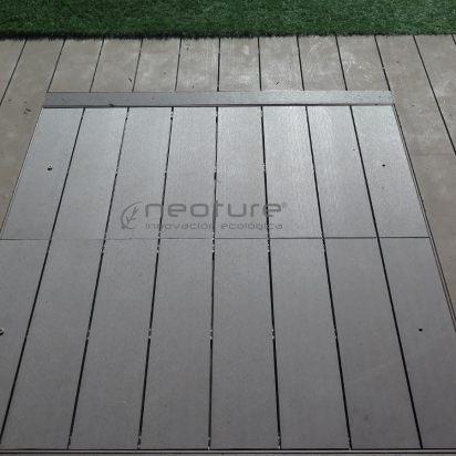 tapa depuradora en madera sintética exterior