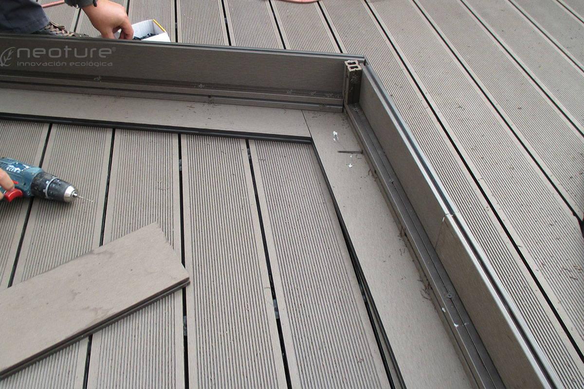 tarima exterior madera sintetica escalones
