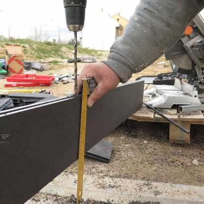 cerramiento exterior con varilla metalica interna