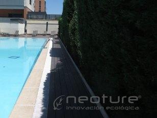 Tarima madera composite exterior pasarela piscina