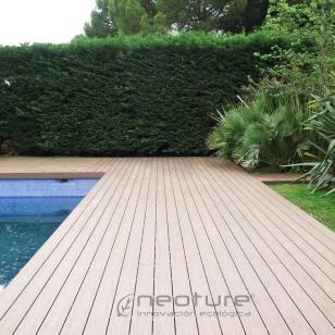 Tarima madera composite exterior piscinas neocros ipe