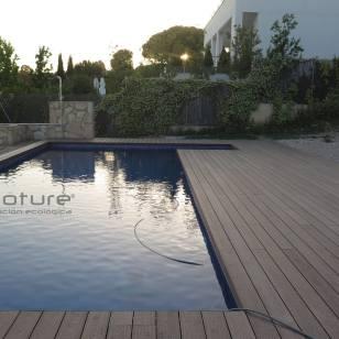 Tarima sintética exterior piscina. Mod. NeoCros Teka.