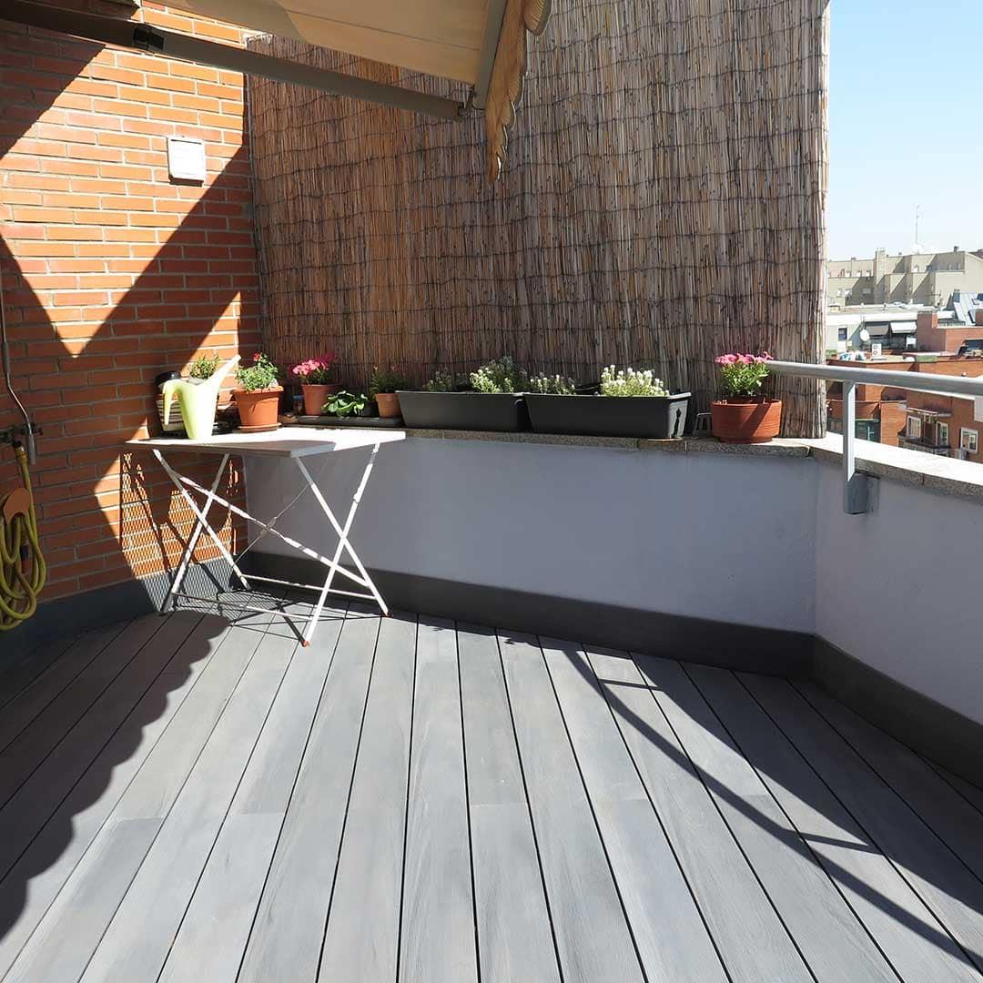 Madera suelo exterior interesting suelo madera exterior - Suelo tecnico madera ...