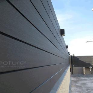 Cerramiento exterior madera composite grey