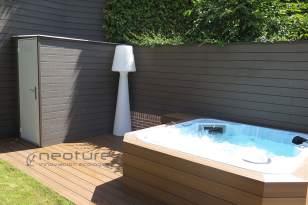 Vallado madera exterior composite Coffee Veteado