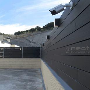 Vallado madera composite exterior color grey
