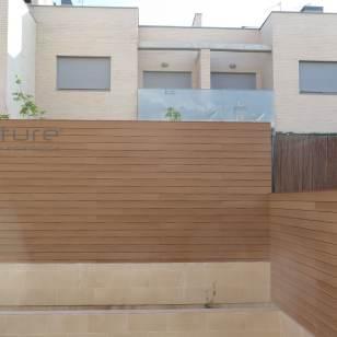 Vallado en madera composite exterior color Wood Veteado