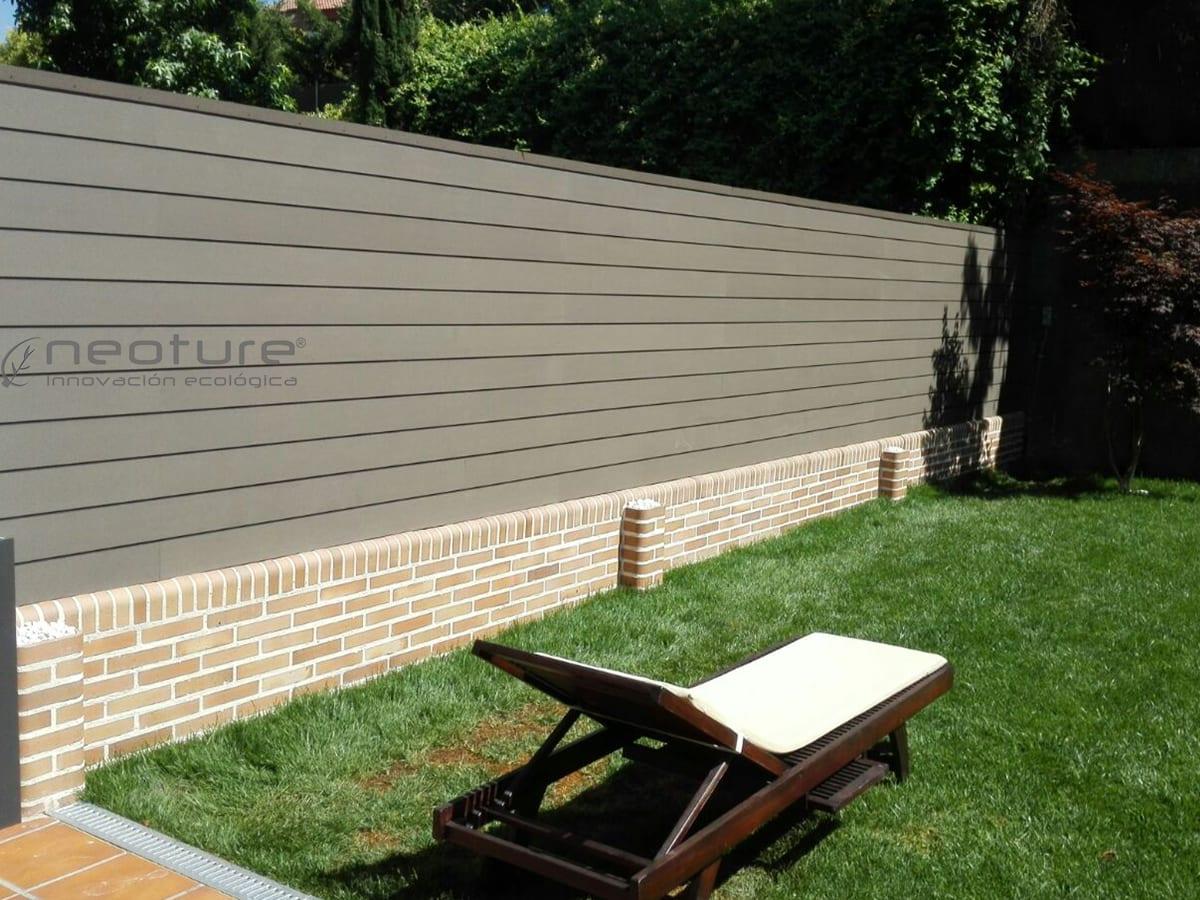 Cerramiento madera composite para terrazas neoture - Vallas para parcelas ...