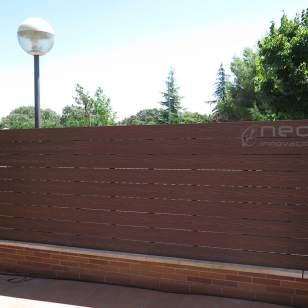 Vallado madera sintética exterior neocros iroko