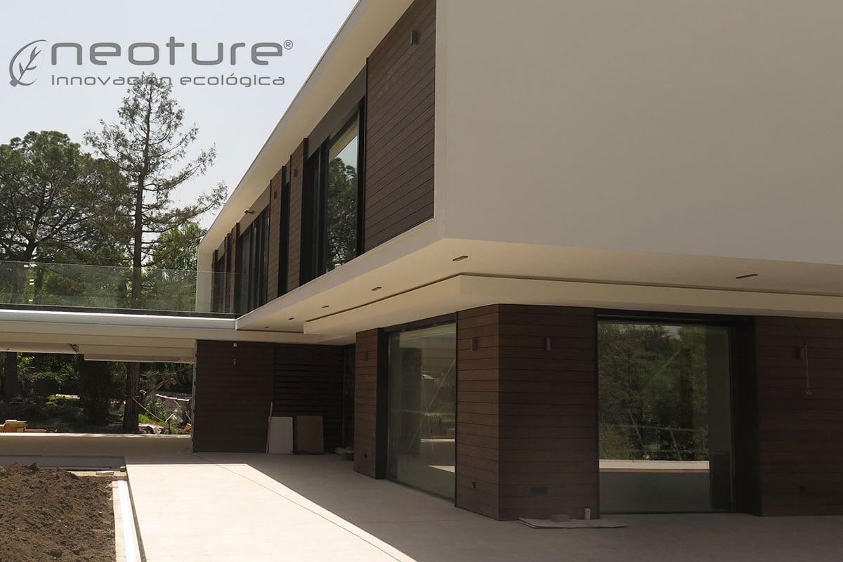 Revestimiento madera composite exterior para fachadas