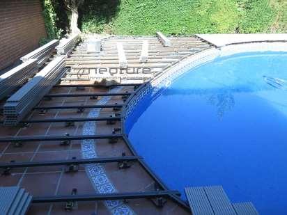 RASTRELADO. Colocación rastreles en vaso piscina.