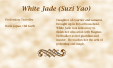 White Jade (Suzi Yao) biography