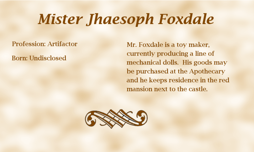Jhaesoph Foxdale biography