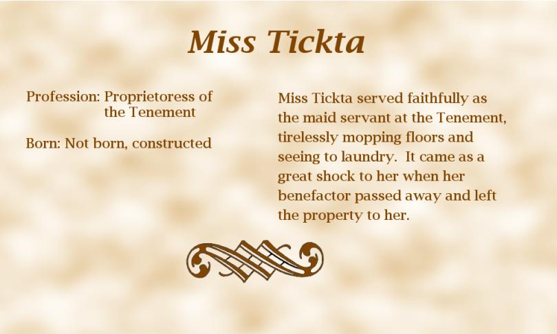 Miss Tickta biography