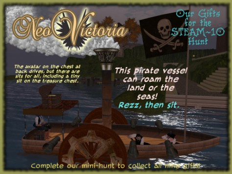 NeoVictoria Gifts for Steam 10: Pirate Boat