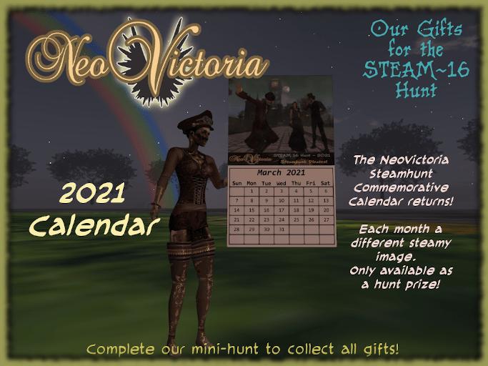 Steanhunt 16 - 2021 Commemorative Calendar