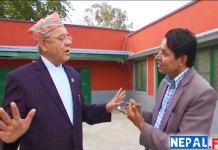 Bamdev-Gautam-with-Rishi-Dhamala-interview-Nepal-Prime-Minister