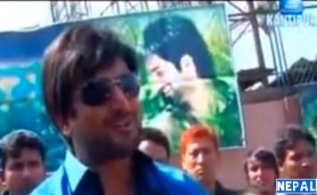 Jiwan Luitel in Rajatpat Nepali Movie Show