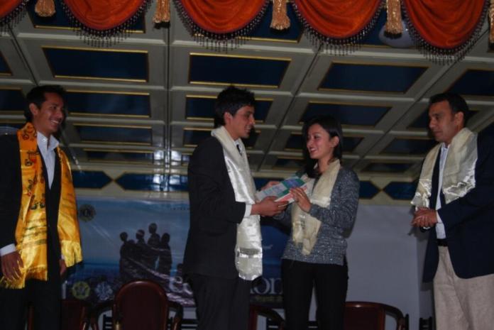 Namrata Shrestha attending Shiksha Nepal event