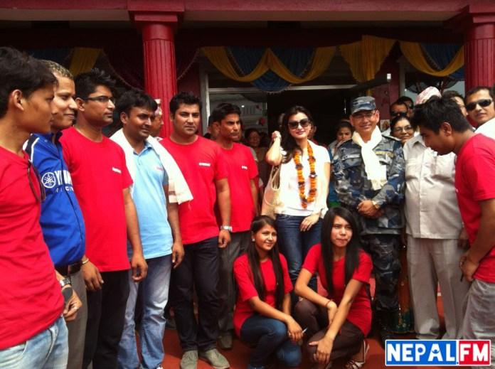 Namrata Shrestha with Sunil Rawal opening Yamaha