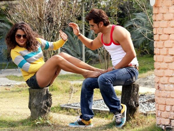 Sexy Rekha Thapa with Sabin Shrestha Hamesa Movie3
