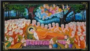 La mort de Bouddha et l'atteinte du nirvana