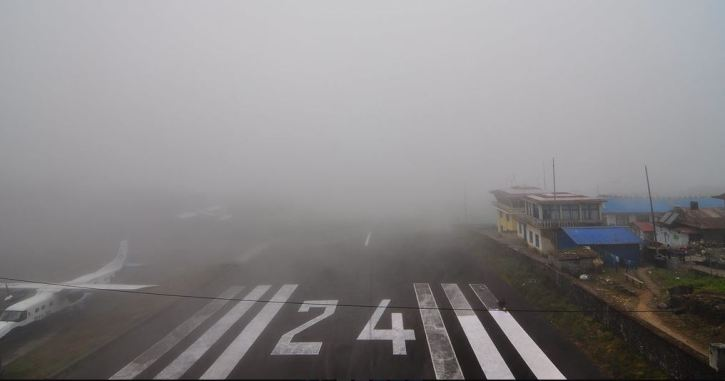 lukla airport bad weather
