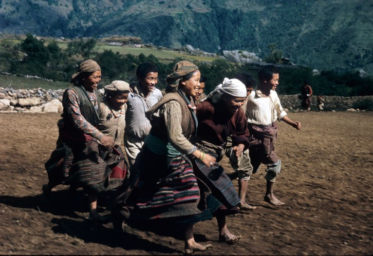 lukla airstrip under construction sherpa dance 1964 Jim Fisher
