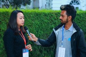 Alina Kakshapati (left) at WC Nepal 2015
