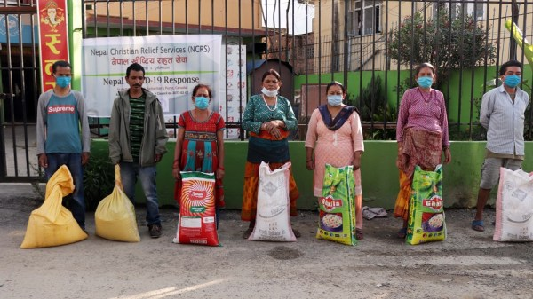 Relief distribution program at Kusunti-13, Lalitpur