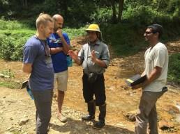 Bhupal with visiting agency representatives