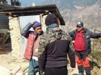 Talking with wood worker Kalinchok
