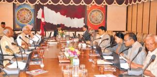 Baburam Bhattarai releasing relief package in Nepal