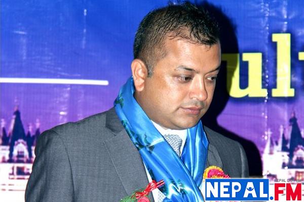 Gagan Thapa at NRN UK Program