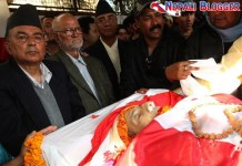 Girija Prasad Koirala dead Images
